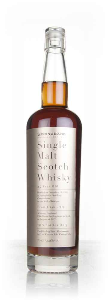 Springbank 25 Year Old 1991 (cask 420) - Bleeding Heart Restaurants