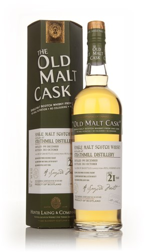 Strathmill 21 Year Old 1991 (cask 10122)- Old Malt Cask (Hunter Laing)