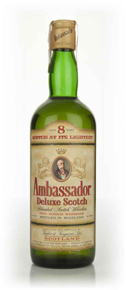 Ambassador 8 Year Old Deluxe Scotch Whisky - 1970s