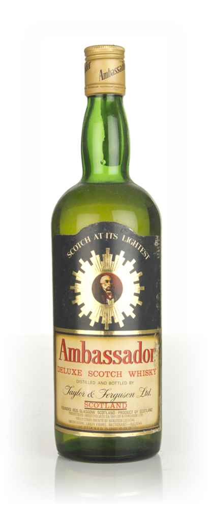 Ambassador Deluxe Scotch Whisky (black label) - 1970s