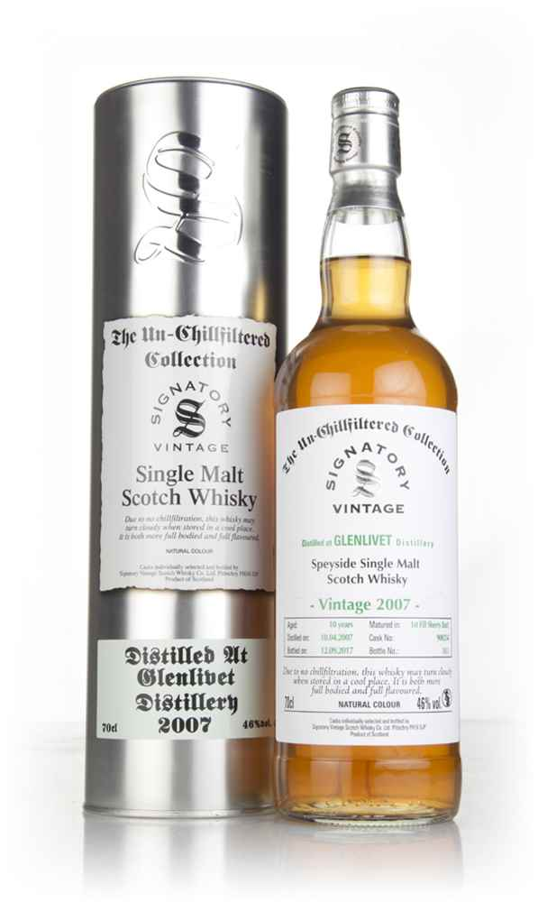 Glenlivet 10 Year Old 2007 (cask 900254) - Un-Chillfiltered Collection (Signatory)
