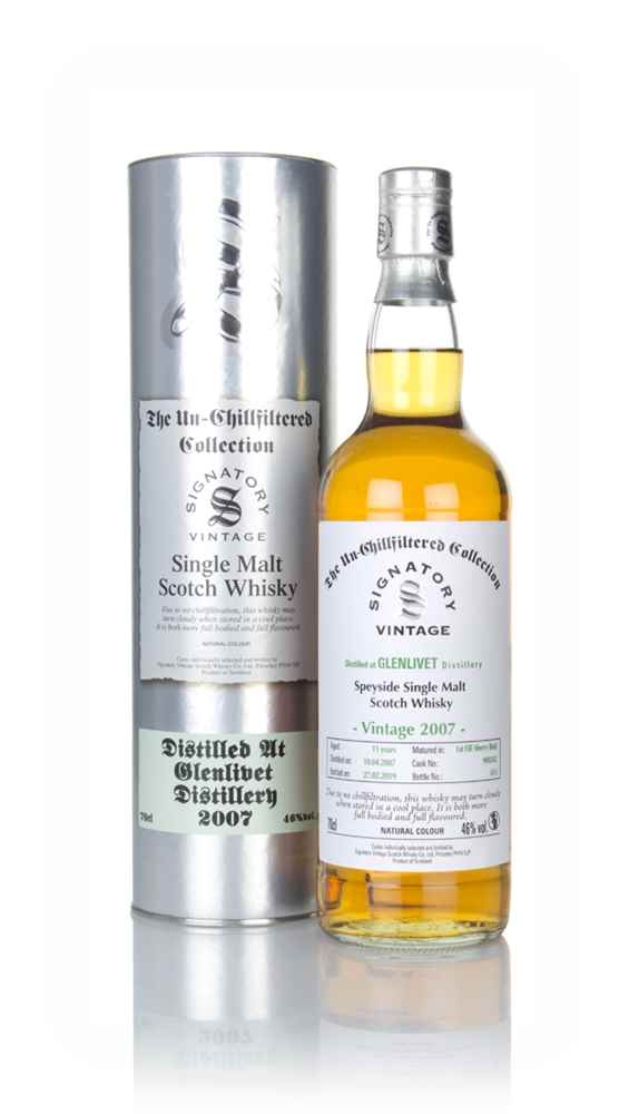 Glenlivet 11 Year Old 2007 (cask 900242) - Un-Chillfiltered Collection (Signatory)