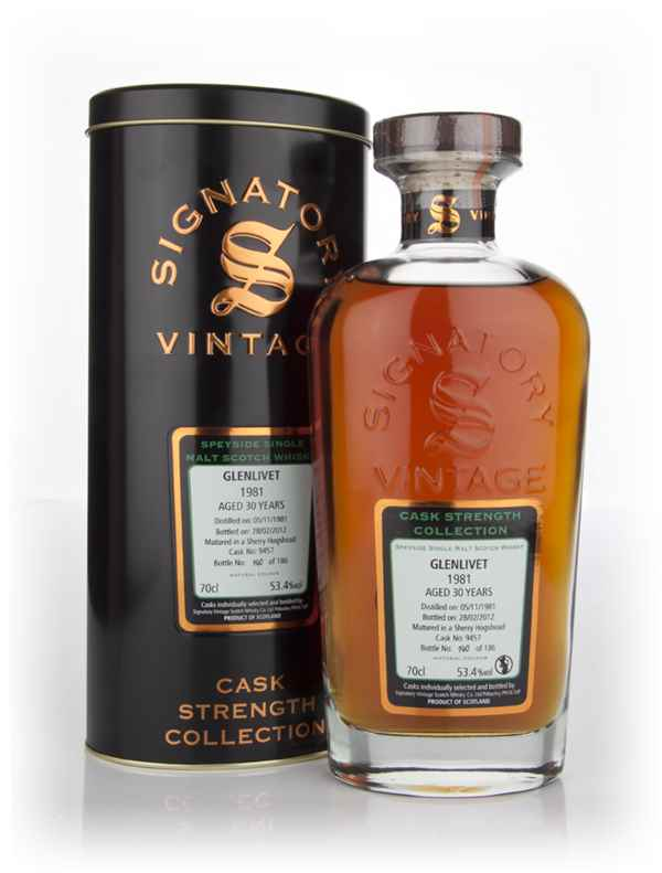 Glenlivet 30 Year Old 1981 Cask 9457 - Cask Strength Collection (Signatory)