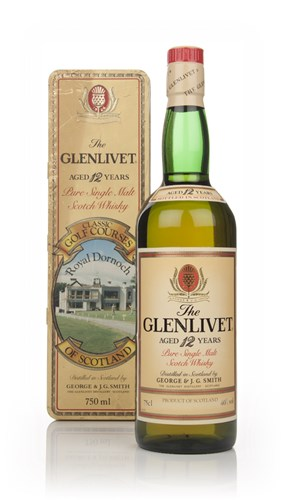The Glenlivet 12 Year Old - Classic Golf Courses of Scotland (Royal Dornoch) - 1980s