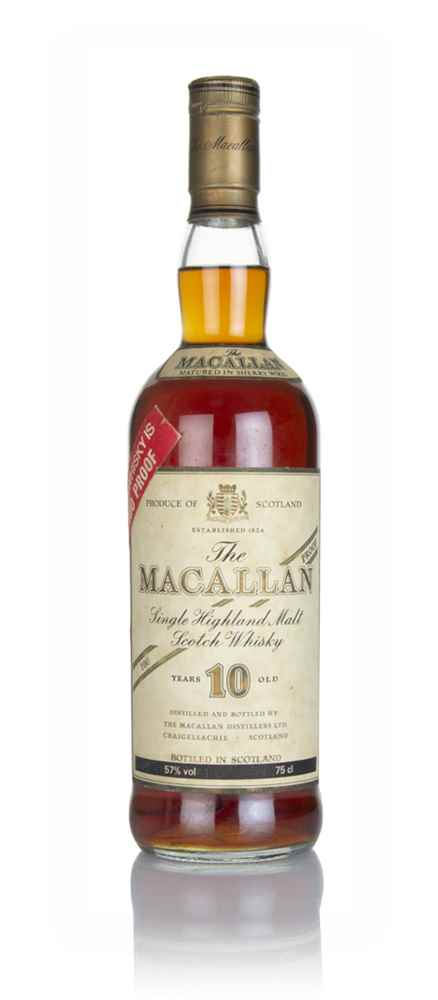 The Macallan 10 Year Old 100° Proof (Red Sticker) - 1980s