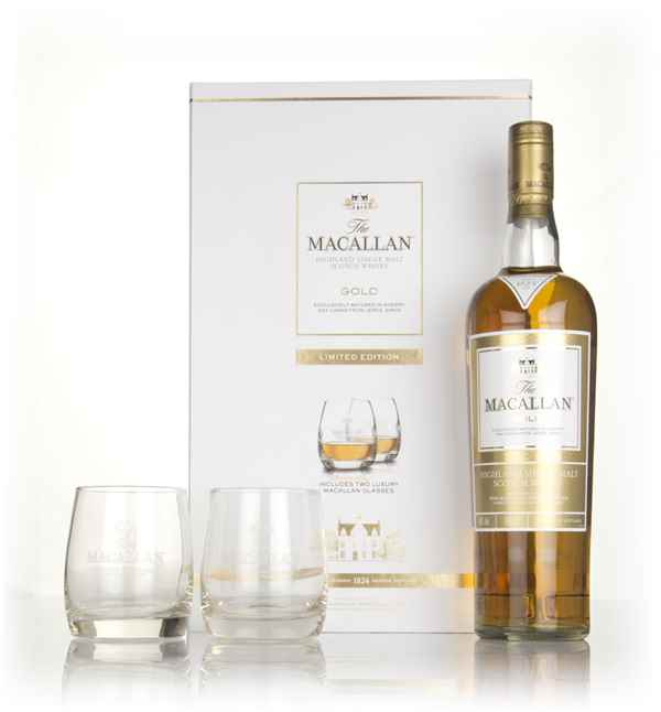 The Macallan Gold - 1824 Series Gift Pack with 2x Glasses