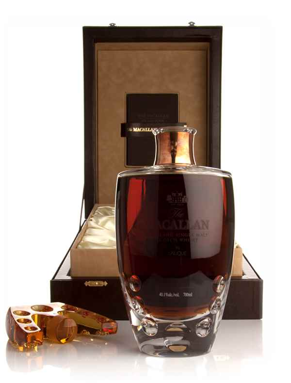 The Macallan in Lalique Natural Colour 55 Year Old - The Six Pillars Collection