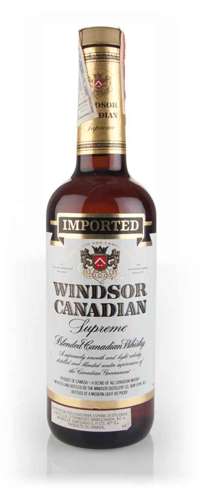 Windsor Canadian Supreme Blended Whisky - 1980s
