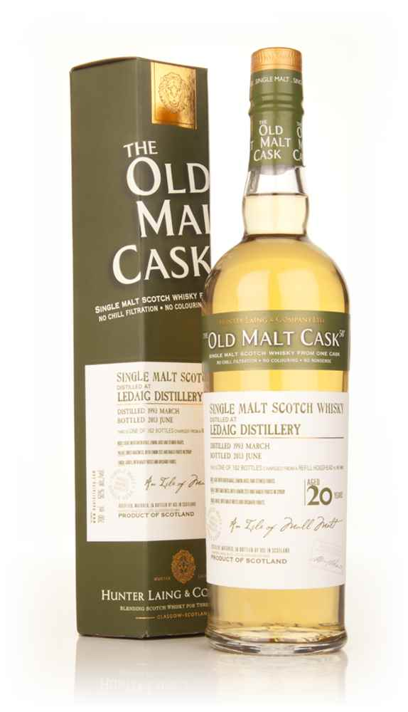 Ledaig 20 Year Old 1993 (cask 9858) - Old Malt Cask (Hunter Laing)