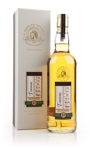 Tormore 23 Year Old 1990 (cask 1588) - Dimensions (Duncan Taylor)