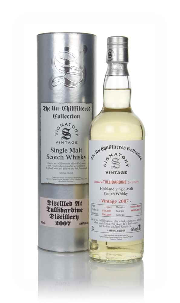 Tullibardine 11 Year Old 2007 (casks 800109 & 800110) - Un-Chillfiltered Collection (Signatory)