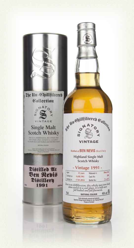 Ben Nevis 22 Year Old 1991 (cask 2908) - Un-Chillfiltered (Signatory)
