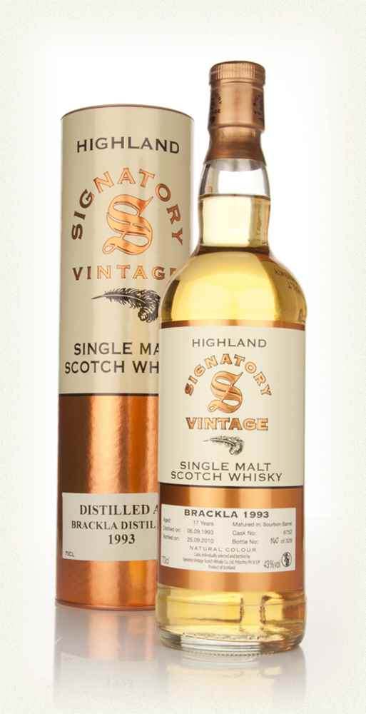 Brackla 17 Year Old 1993 (Signatory)
