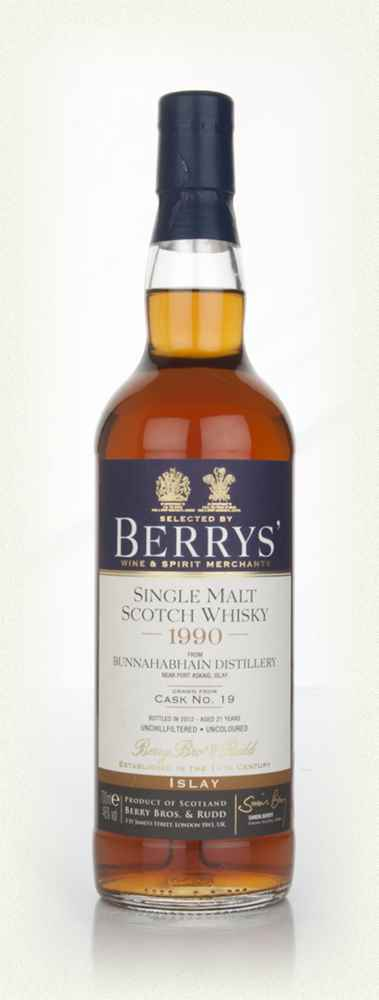 Bunnahabhain 21 Year Old 1990 (cask 19) (Berry Bros. & Rudd)