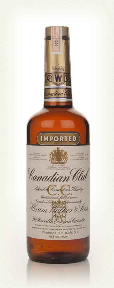 Canadian Club 6 Year Old Whisky - 1972