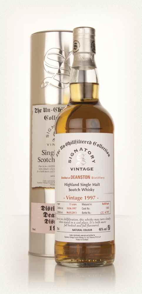 Deanston 15 Year Old 1997 (cask 1343) - Un-Chillfiltered (Signatory)