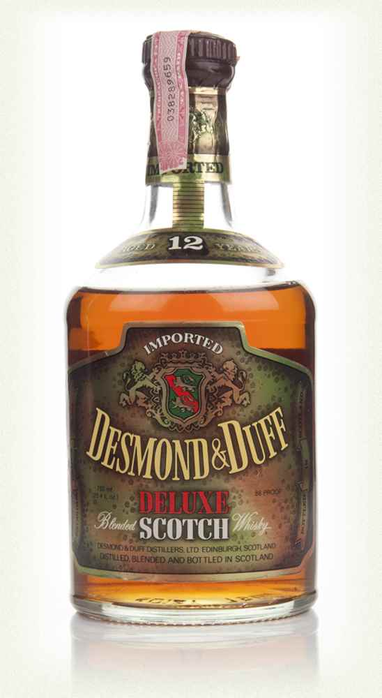 Desmond & Duff 12 Year Old Deluxe Blended Scotch Whisky - 1970s