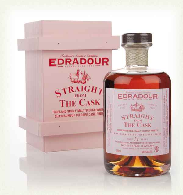 Edradour 11 Year Old 2002 Châteauneuf-du-Pape Cask Finish - Straight From The Cask 58.5%