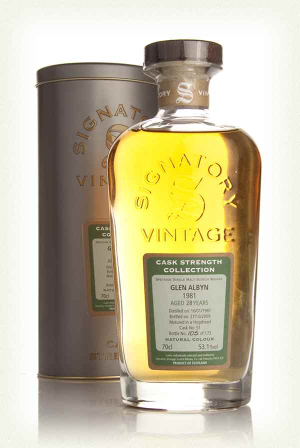 Glen Albyn 28 Year Old 1981 - Cask Strength Collection (Signatory)