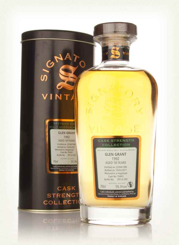 Glen Grant 18 Year Old 1992 Cask 55403 - Cask Strength Collection (Signatory)