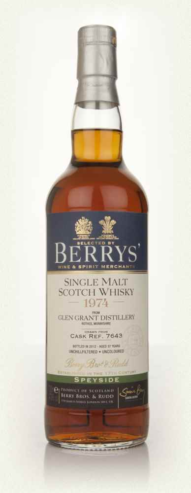 Glen Grant 37 Year Old 1974 Cask 7643 (Berry Bros. & Rudd)