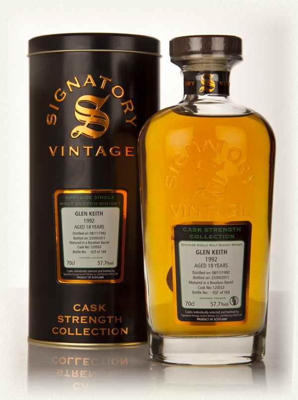 Glen Keith 18 Year Old 1992 Cask 120553 - Cask Strength Collection (Signatory)