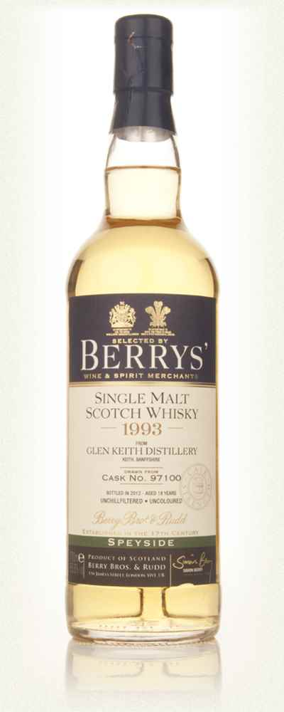 Glen Keith Distillery 18 Year Old 1993 (cask 97100) - (Berry Bros & Rudd)