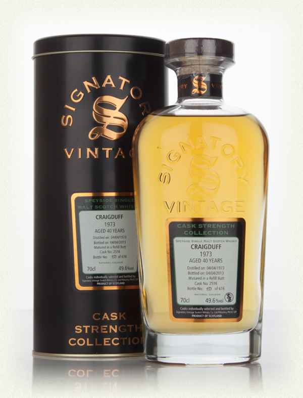 Craigduff 40 Year Old 1973 (cask 2516) - Cask Strength Collection (Signatory)