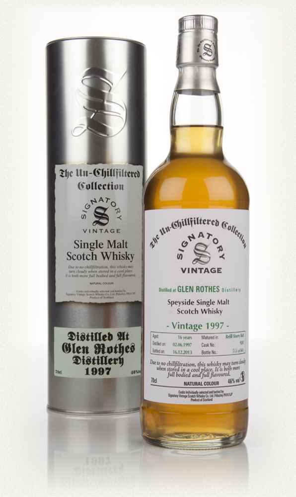 Glenrothes 16 Year Old 1997 (cask 9241) - Un-Chillfiltered (Signatory)