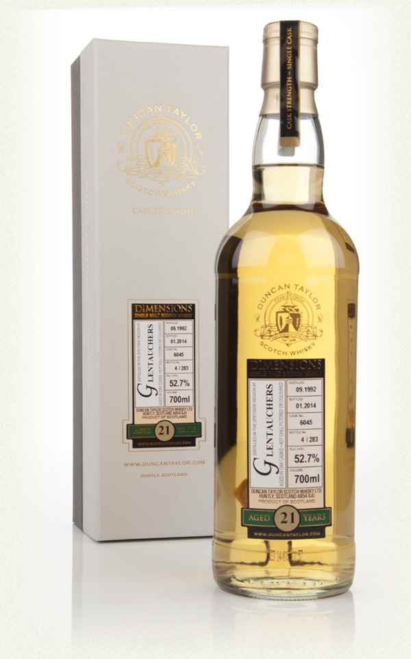 Glentauchers 21 Year Old 1992 (cask 6045) - Dimensions (Duncan Taylor)