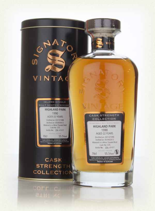 Highland Park 22 Year Old 1990 (cask 575) - Cask Strength Collection (Signatory)
