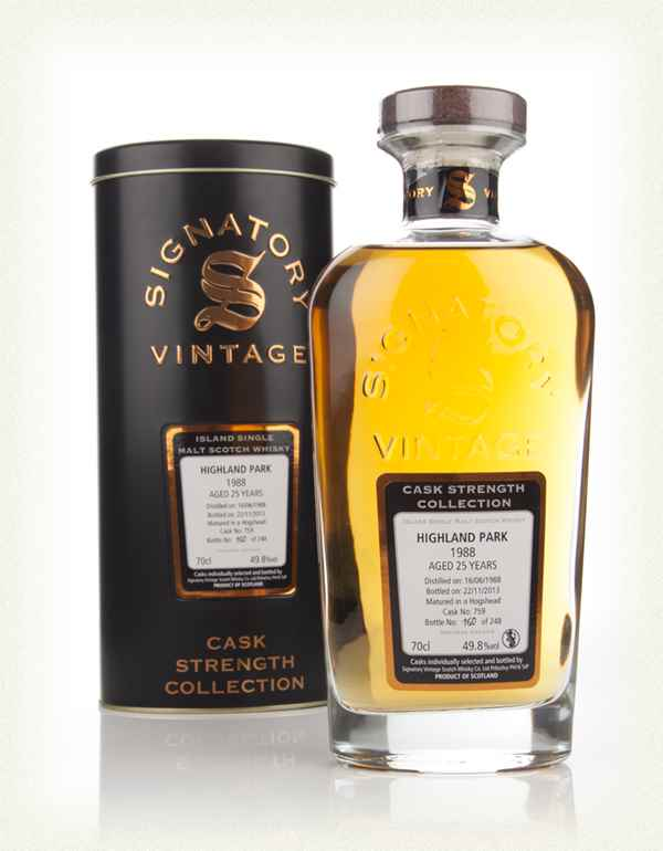 Highland Park 25 Year Old 1988 (cask 759) - Cask Strength Collection (Signatory)