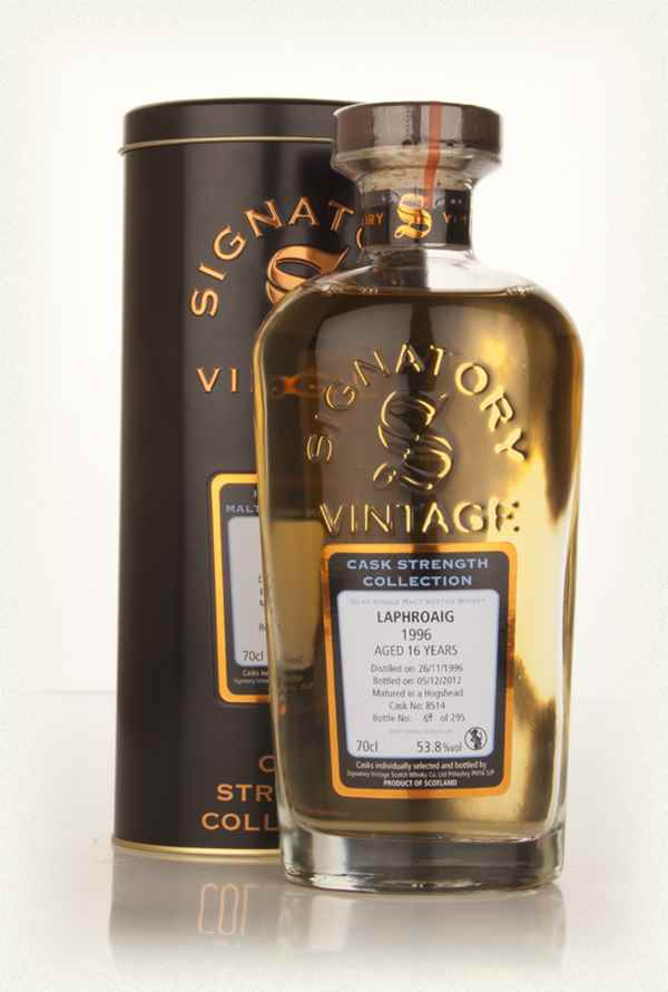 Laphroaig 16 Year Old 1996 (cask 8514) - Cask Strength Collection (Signatory)