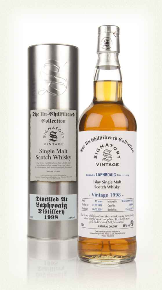 Laphroaig 15 Year Old 1998 (cask 700384) - Un-Chillfiltered (Signatory)