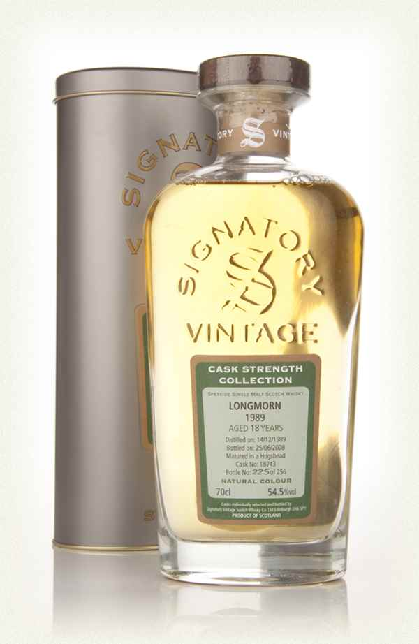 Longmorn 18 Year Old 1989 - Cask Strength Collection (Signatory)