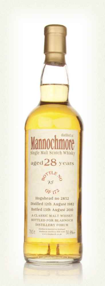 Mannochmore 28 Year Old 1982 (Bladnoch)