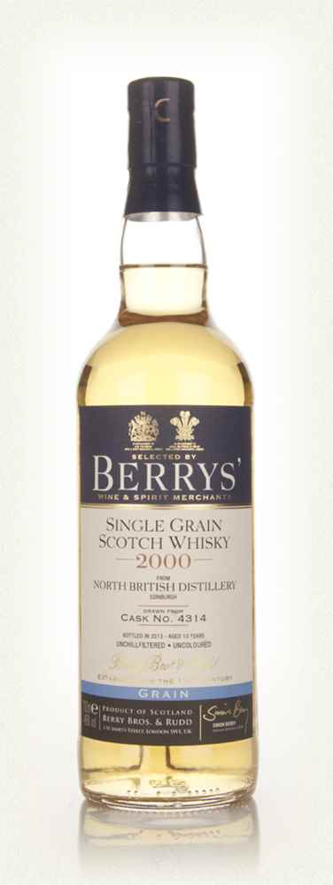 North British 12 Year Old 2000 (cask 4314) - (Berry Bros. & Rudd)