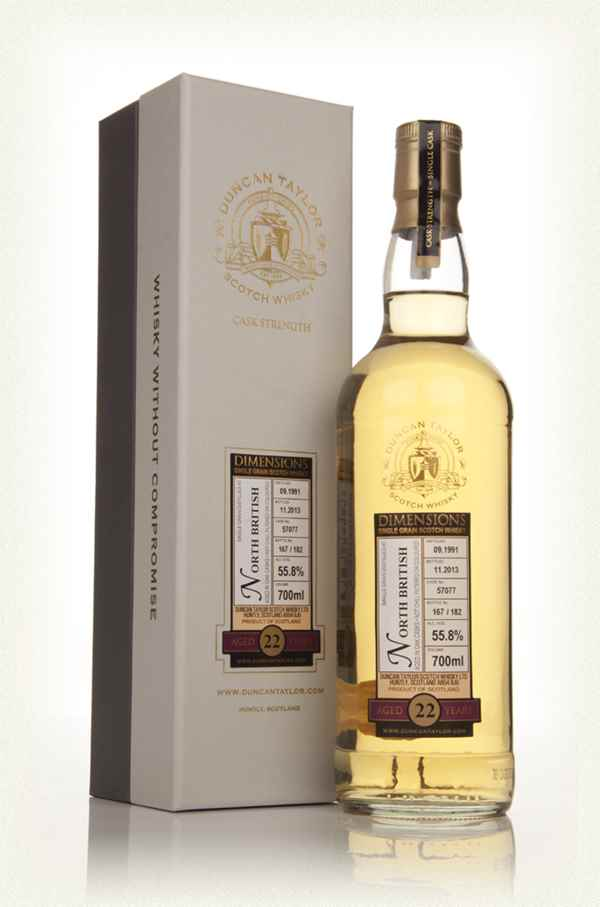 North British 22 Year Old 1991 (Cask 57077) - Dimensions (Duncan Taylor)