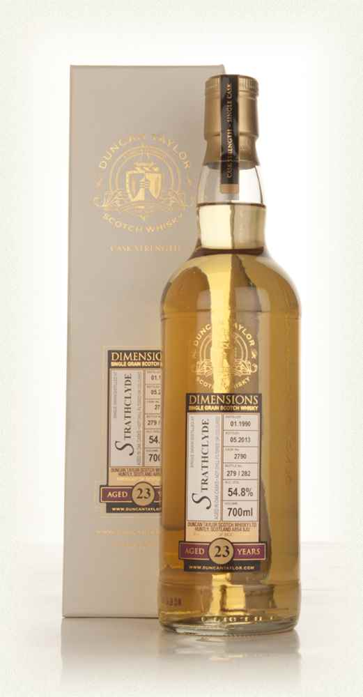 Strathclyde 23 Year Old 1990 (cask 2790) - Dimensions (Duncan Taylor)