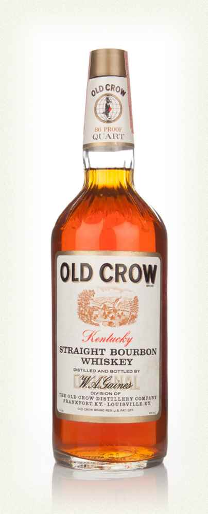 Old Crow Kentucky Bourbon 86 Proof - 1970s