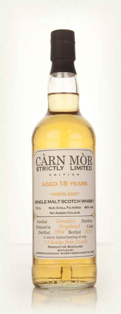 Tomatin 18 Year Old 1994 - Strictly Limited (Càrn Mòr)