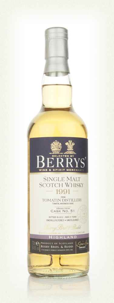 Tomatin 20 Year Old 1991 (Berry Bros. & Rudd)