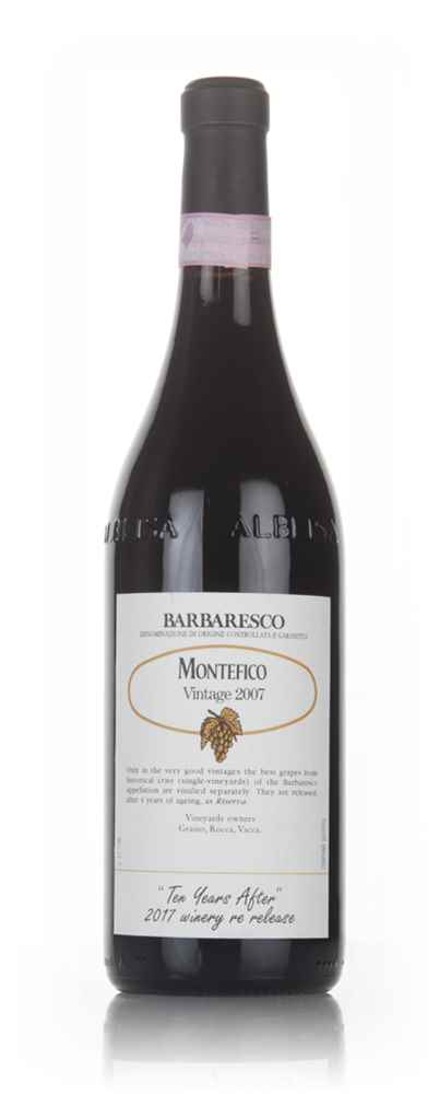 Barbaresco Montefico 2007 - 2017 Winery Re-Release